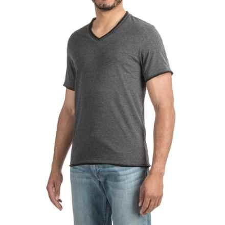 V-Neck T-Shirt - Short Sleeve (For Men) in Dark Grey Heather - 2nds