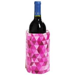 Vacu Vin Active Reusable Wine Bottle Chiller Sleeve in Diamond Pink