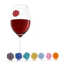 Vacu Vin Classic Grapes Wine Glass Markers - Set of 8 in Multi - Closeouts