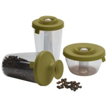 Vacu Vin PopSome and Seal Container Dispenser Set - 3 Piece in Olive Green - Closeouts