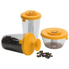 Vacu Vin PopSome and Seal Container Dispenser Set - 3 Piece in Yellow - Closeouts