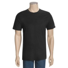 Valde Merino Wool Base Layer Top - Short Sleeve (For Men) in Black - Closeouts