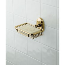 Valsan Carlton Soap Basket in Brass - Closeouts
