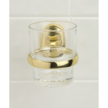 Valsan Carlton Tumbler/Holder in Brass - Closeouts