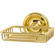 Valsan Wall Soap Basket - Small in Brass - Closeouts