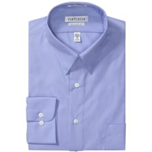 Van Heusen Basics Dress Shirt - Wrinkle-Free Poplin, Long Sleeve (For Men) in Blue - Closeouts