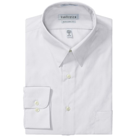 Van Heusen Basics Dress Shirt - Wrinkle-Free Poplin, Long Sleeve (For Men) in White