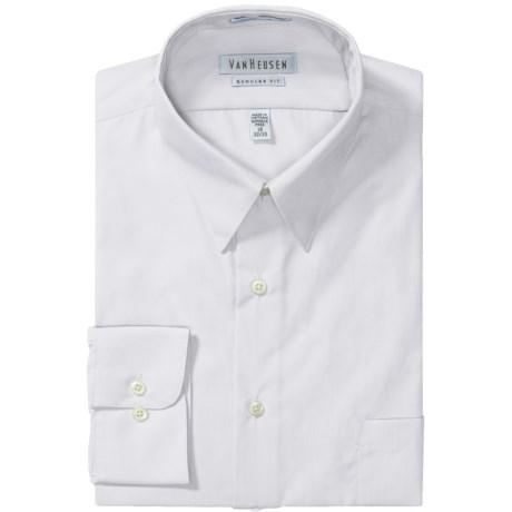 Van Heusen Basics Dress Shirt - Wrinkle-Free Poplin, Long Sleeve (For Men) in Black