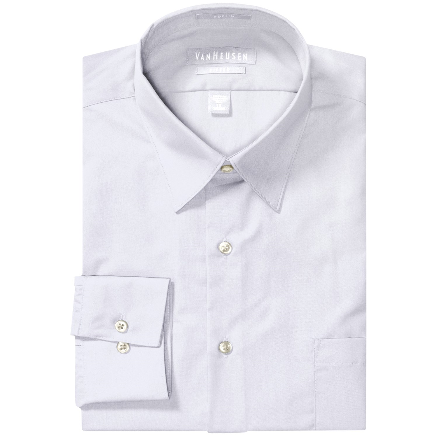 Van Heusen Basics Fitted Dress Shirt Wrinkle Free Poplin