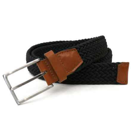 Van Heusen Braided Casual Traveler Belt in Black - Closeouts