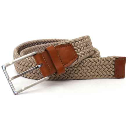 Van Heusen Braided Casual Traveler Belt in Khaki - Closeouts