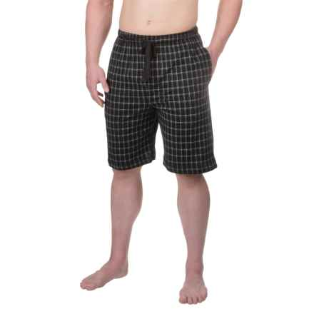 Van Heusen Printed Jersey Jams Shorts (For Men) in Black - Closeouts