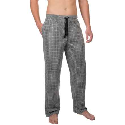 Van Heusen Printed Jersey Sleep Pants (For Men) in Grey Heather - Closeouts
