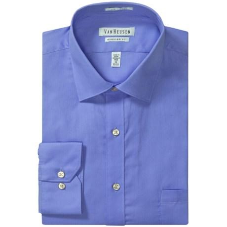 Van Heusen Wrinkle-Free Pincord Dress Shirt - Long Sleeve (For Men) in French Blue