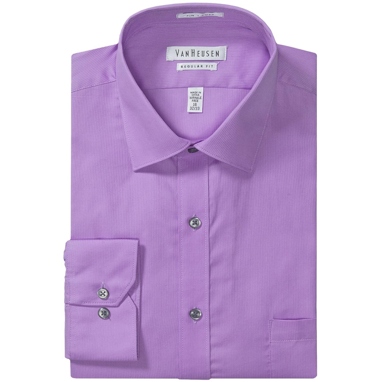 Van Heusen Wrinkle Free Pincord Dress Shirt Long Sleeve