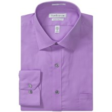 Van Heusen Wrinkle-Free Pincord Dress Shirt - Long Sleeve (For Men) in Lilac - Closeouts