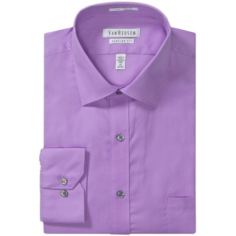 Van Heusen Wrinkle-Free Pincord Dress Shirt - Long Sleeve (For Men) in Lilac