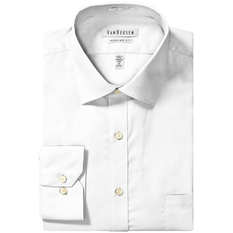 Van Heusen Wrinkle-Free Pincord Dress Shirt - Long Sleeve (For Men) in White