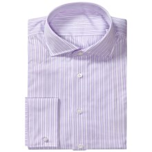 Van Laack Alano Dress Shirt - French Cuff, Long Sleeve (For Men) in Pink/White Multi Stripe - Closeouts