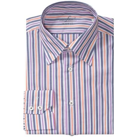 Van Laack Radici Shirt - Hidden Button Down, Long Sleeve (For Men) in Blue/Orange/Purple Stripe