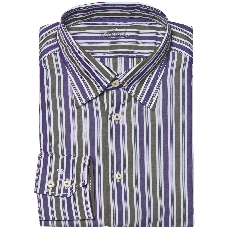 Van laack radici tailored fit shirt hidden button down for Hidden button down collar shirts