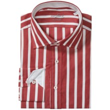 Van Laack Reda Shirt - Tailor Fit, Long Sleeve (For Men) in Red/White Wide Stripe - Closeouts