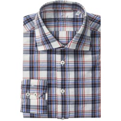 Van Laack Reda Shirt - Tailor Fit, Long Sleeve (For Men) in White/Blu/Red Plaid