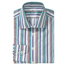 Van Laack Reda Stripe Sport Shirt - Tailor Fit, Long Sleeve (For Men) in Teal/White/Red Stripe - Closeouts