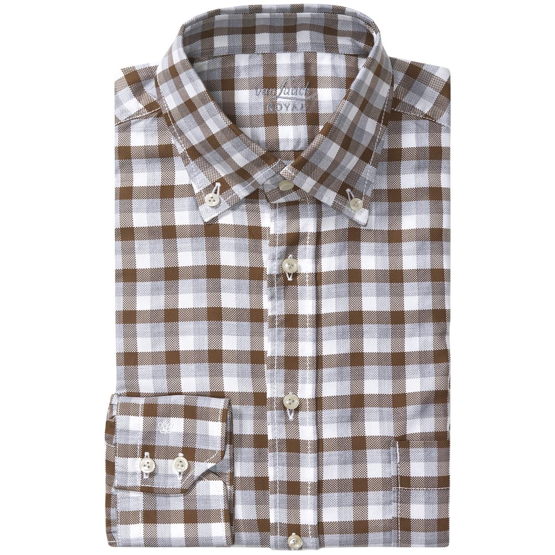 van laack regular fit check dress shirt hidden button. Black Bedroom Furniture Sets. Home Design Ideas