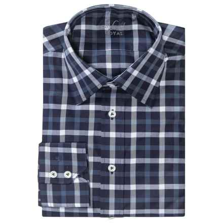 Van Laack Remco Cotton Shirt - Long Sleeve (For Men) in Dark Blue/White Multi Check - Closeouts