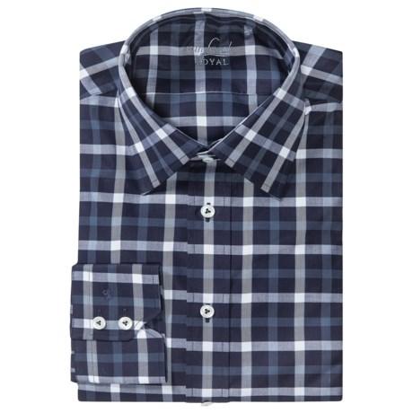 Van Laack Remco Cotton Shirt - Long Sleeve (For Men) in Dark Blue/White Multi Check