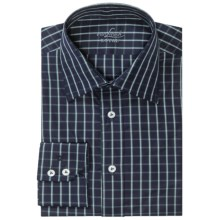 Van Laack Remco Cotton Shirt - Long Sleeve (For Men) in Navy/Blue Check - Closeouts