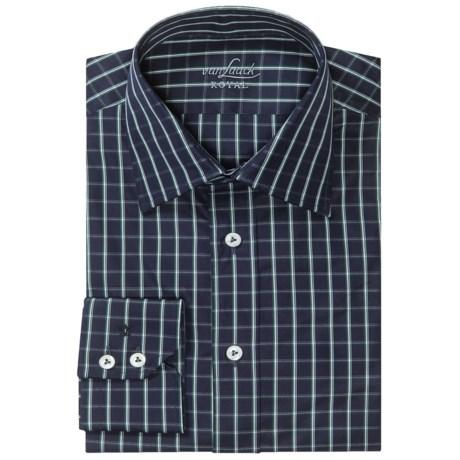 Van Laack Remco Cotton Shirt - Long Sleeve (For Men) in Navy/Blue Check