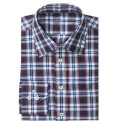 Van Laack Remco Cotton Shirt - Long Sleeve (For Men) in Navy/Red/White Plaid