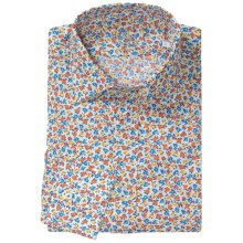 Van Laack Ret Cotton Print Shirt - Long Sleeve (For Men) in Red Floral Print - Closeouts