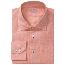 Van Laack Ret Shirt - Linen-Cotton, Tailor Fit, Long Sleeve (For Men) in Orange - Closeouts