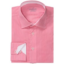 Van Laack Ret Stretch Cotton Blend Shirt - Spread Collar, Long Sleeve (For Men) in Pink/White Stripe - Closeouts