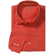 Van Laack Reto Linen Shirt - Spread Collar, Long Sleeve (For Men) in Red - Closeouts