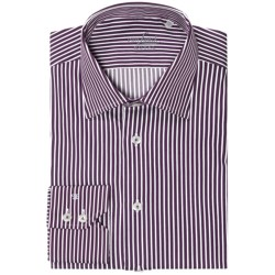 Van Laack Reto Shirt - Long Sleeve (For Men) in Purple/White Stripe