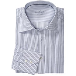 Van Laack Rigo Cotton Shirt - Long Sleeve (For Men) in White/Navy Stripe