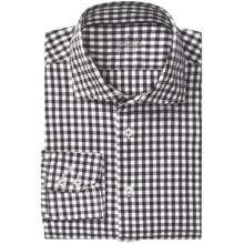 Van Laack Rivara Multi-Check Shirt - Tailor Fit, Spread Collar, Long Sleeve (For Men) in White/Black Check - Closeouts