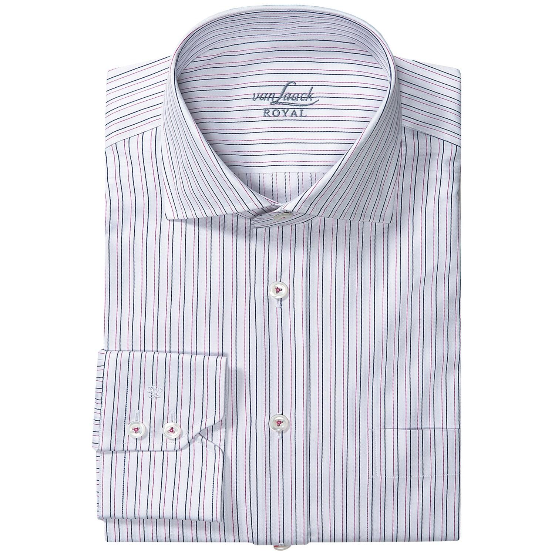 van laack rivara multi stripe shirt spread collar long. Black Bedroom Furniture Sets. Home Design Ideas