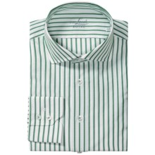 Van Laack Rivara Multi-Stripe Shirt - Tailor Fit, Spread Collar, Long Sleeve (For Men) in Green/White Stripe - Closeouts