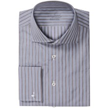 Van Laack Rivara Shirt - French Cuff, French Front, Long Sleeve (For Men) in Blue/Brown Multi Stripe - Closeouts