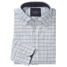Van Laack Ron Cotton Shirt - Button-Down, Long Sleeve (For Men) in Brown/Tan/Blue Check - Closeouts