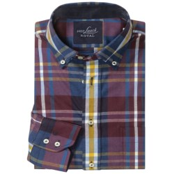 Van Laack Ron Tailor Fit Shirt - Stretch Cotton, Long Sleeve (For Men) in Blue/Yellow Plaid
