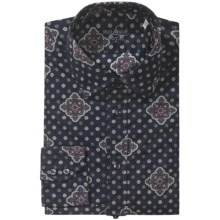 Van Laack Rondo Dress Shirt - Tailored Fit, Long Sleeve (For Men) in Navy Print - Closeouts