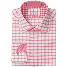 Van Laack Rott Shirt - Spread Collar, Long Sleeve (For Men) in Red/White Check - Closeouts