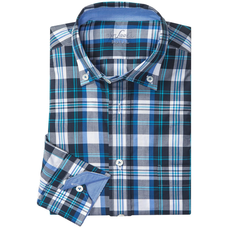 van laack roy dress shirt long sleeve for men in navy. Black Bedroom Furniture Sets. Home Design Ideas