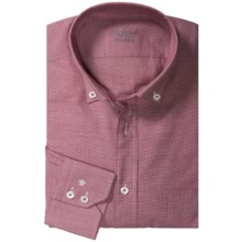 Van Laack Roy Shirt - Cotton-Cashmere, Long Sleeve (For Men) in Red/White - Closeouts